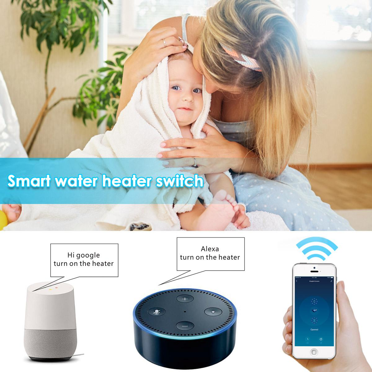 UK EU Standard Wifi Boiler Smart Switch Water Heater Switches Voice Remote Control Touch Panel Timer Work With Alexa Google Home in Switches from Lights Lighting