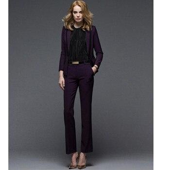 OL career suits purple fashion elegant temperament business suit a grain of buckle long-sleeved women suit