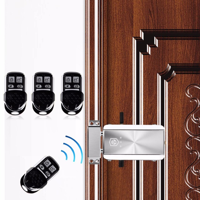 Home Door Lock Remote Control Keyless Entry Electronic Lock Smart Wireless APP Phone Control Lock Deadbolt For Hotel Apartment