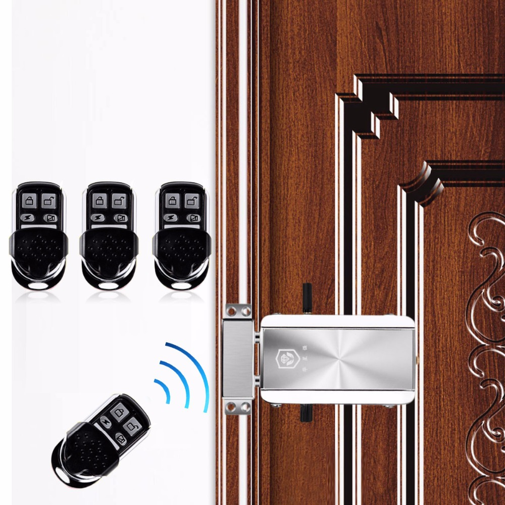 Wireless Door Lock Remote Control Electronic Anti-theft Lock For Home Apartment Automatically Intelligence Household F1785D