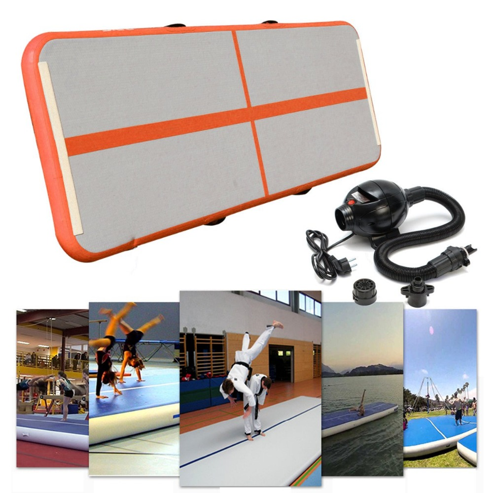 Gofun Airtrack 90cm*3m*10cm Inflatable GYM Air Track Mat Floor Home Tumbling Gymnastics Mat Training Mat With Air pump new arrival yoga mats 0 9 3m inflatable tumble track trampoline air track floor home gym gymnastics inflatable air tumbling mat