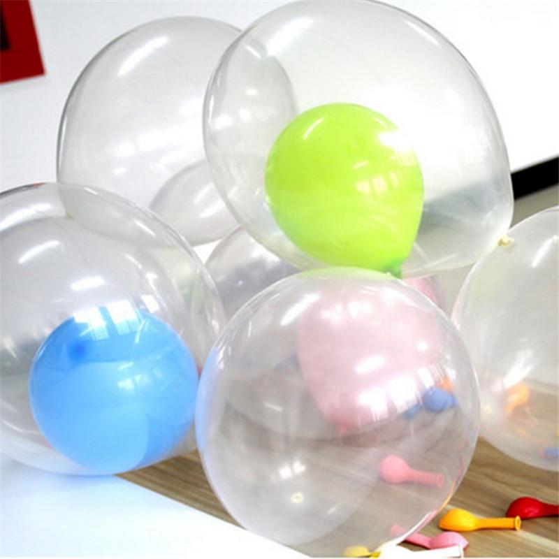 2 Unid gran tamaño partido decoración globo 18 látex transparente pulgadas helio  globo Feliz cumpleaños partido bola inflable del aire en Globos y ... f76b0ef7a4c1b