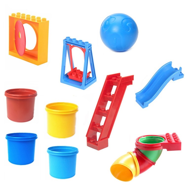 Round Sliding pipeline Swing ladder Set Bricks Big Particles Building Blocks Park accessory DIY Gift Toys Compatible with Duplo umeile brand farm life series large particles diy brick building big blocks kids education toy diy block compatible with duplo