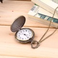 Men's Antique Bronze Retro Vintage DAD Pocket Watch Quartz With Chain Gift Promotion New Arrivals