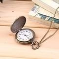 Men's Antique Bronze Retro Vintage DAD Pocket Watch Quartz With Chain Gift Promotion New Arrivals