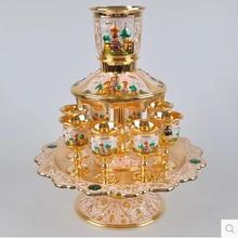 12 шт./компл. цинковый сплав металл античное серебро с гравировкой набор для вина с декантером посуда для питья напитков Винный Набор Графин JJ031