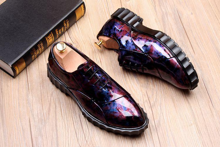 Piste 1 Mode 2 Bout Pointu Richelieus 3 Robe 2018 Chaussures Automne Printemps Conception En Dentelle Cuir 4 Nouveau Casual Up Hommes 7nCqR