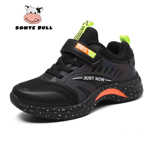 Extérieur doux antidérapant enfants chaussures de course été respirant maille enfants baskets mode décontracté garçons chaussures taille 28 40
