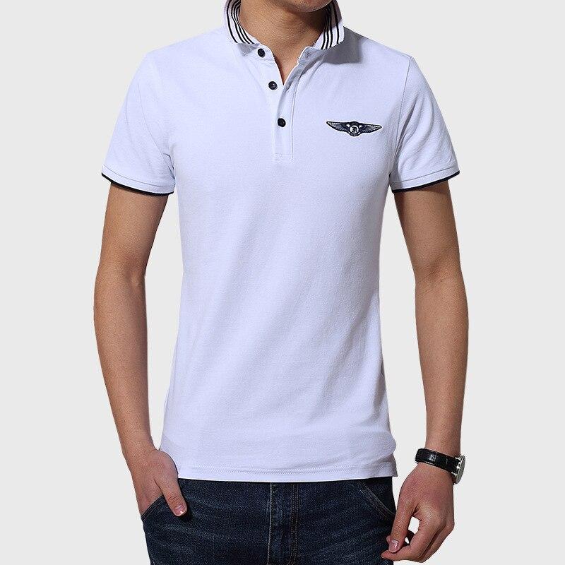 남자 솔리드 여름 폴로 셔츠 높은 품질 흰색 회색 폴로 셔츠 짧은 소매 클래식 패션 남성 디자이너 폴로 셔츠