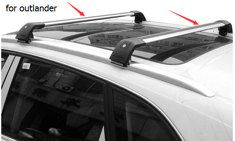 For Mitsubishi Outlander Roof Rack Rail Bar Cross Beam 2017 2016 Thick Aluminum Alloy Fix By Free Shipping