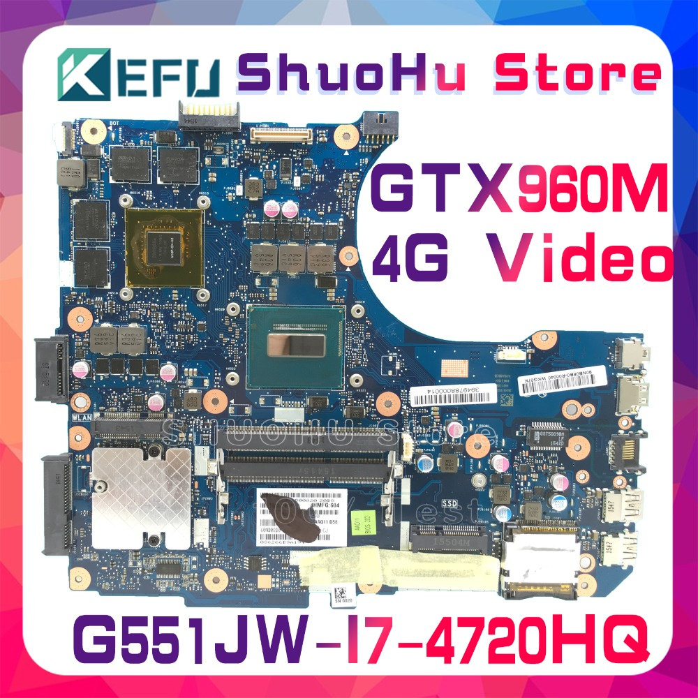 все цены на SHELI For ASUS G551JW G551JM N551JW N551JX N551JQ G551JK N551JK N551JM i7 laptop motherboard tested 100% work original mainboard онлайн