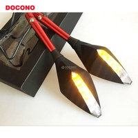 Motorcycle Rearview Mirror With Turn Signal Light For YAMAHA c8 ybr 250 tmax 530 mt 07 mt 10 mt 09 sport tracker etc.