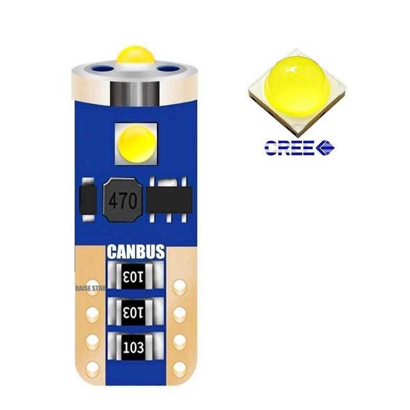 1Pcs New T10 W5W WY5W 501 2825 168 High Quality CREE Chips LED Car Lights Auto Marker Lamp Wedge Tail Side Bulb White Red Yellow