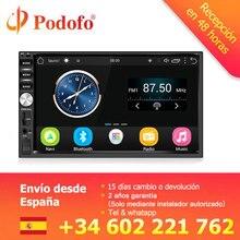 """Podofo Auto Radio 2 Din Android di Navigazione GPS Per Auto Radio Audio Stereo 7 """"1024*600 Lettore Multimediale Universale wifi Bluetooth USB"""