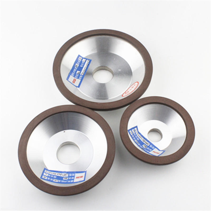 3pcs/lot  Bowl-shaped Diamond Resin Grinding Wheel  CBN Material to Grinding Carbide and Hard Steel 2pk diamond double row grinding cup wheel for granite and hard material diameter 4 5 115mm bore 22 23mm with 16mm washer