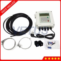 TUF 2000SW TM 1 HT 30~160C High Temp Transducer DN50 700mm Wall mounted Ultrasonic Digital Flowmeter Liquid Flow Meter