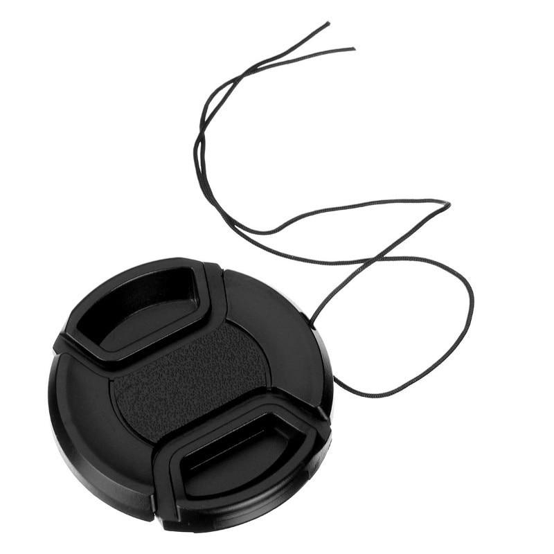 49mm 52mm 55mm 58mm 62mm 67mm 72mm 77mm Centro Belisque Snap-on Lens Cap Frente Para Filtros Lente Da Câmera