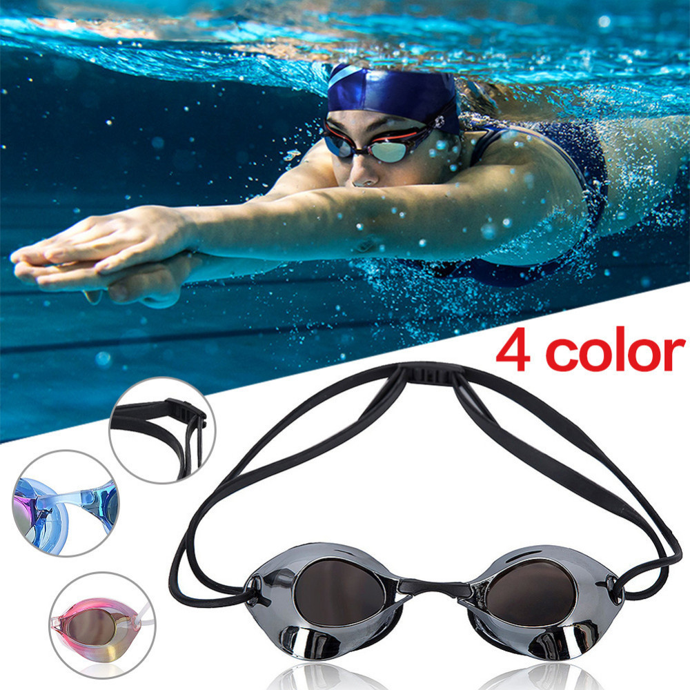 цена на Professional Unisex Swim Goggles Adjustable Water Resistant Anti-fog UV Protection Swimming Goggles For Water Sports