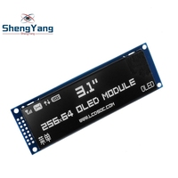 ShengYang Real OLED Display 3.12 256*64 25664 Dots Graphic LCD Module Display Screen LCM Screen SSD1322 Controller Support SPI