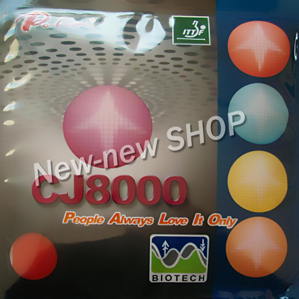Palio CJ8000 (BIOTECH) Pips-In Table Tennis (PingPong) Rubber With Sponge (Hardness: 36-38)