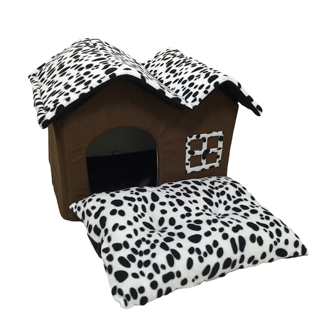 Actionclub Dog House New Cotton Folding Dog Bed For Large Dog House With Mat Pets Product Cats House New Style