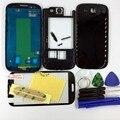 Черный/Белый/Синий Полный Крышку Корпуса + Внешний Стеклянный Объектив + Кнопки Для Samsung Galaxy S3 I9305 LTE