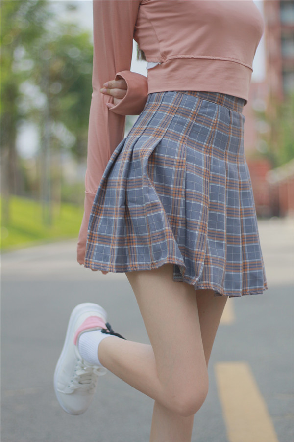 Details About Harajuku Skirts Womens 2017 Korean Summer Style New Plaid Pleated Skirt Rock