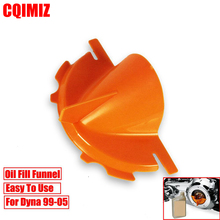 Motorcycle Primary Case Oil Fill Funnel For Harley Dyna 99-05 Softail 00-06 Touring Twin Cam 99-06 Evolution 1340 84-00