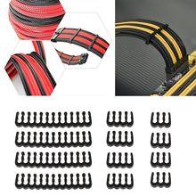 12Pcs Black PP Cable Comb /Clamp /Clip /Dresser For 2.5 3.0 mm Cables 6/8/24 Pin 3 types comb C26