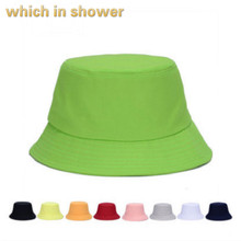 3ddfcf8a67a plain bucket hat for women blank cotton men fishing cap outdoor solid  summer female cap beach · 10 Colors Available