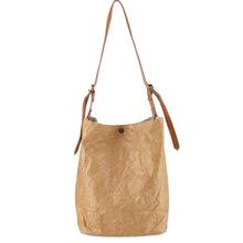 Paper Tote Bag 2018 Women Kraft Paper Bucket Bag Handbag Retro Vintage Style Shoulder Bag Casual Tote Shopper Sac