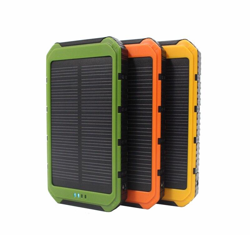 imágenes para Nuevo Real 10000 mAh Banco de la Energía del Cargador Solar Portátil con 6 LLEVÓ el Panel de la Energía Del Teléfono Móvil de Carga Solar Luces de Camping