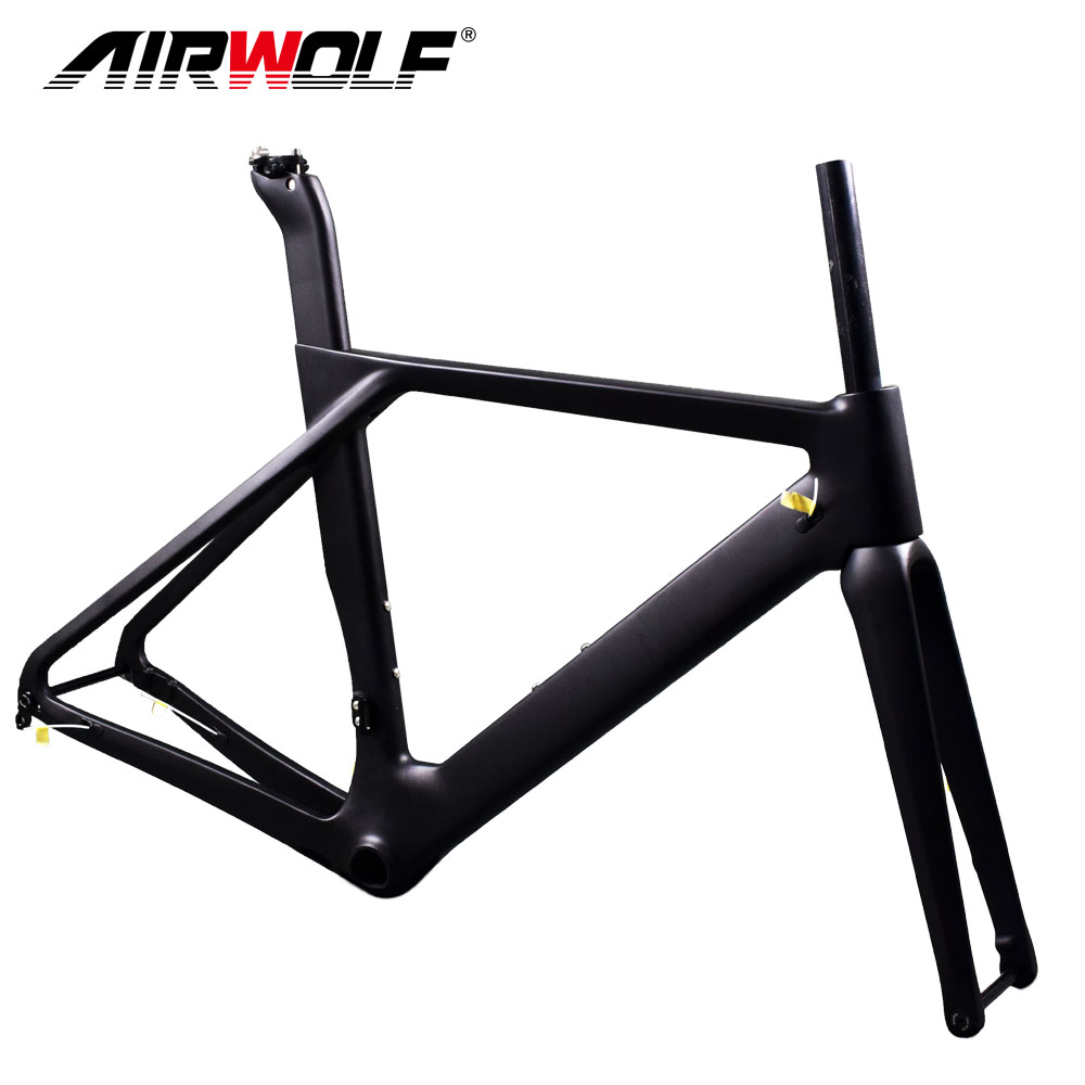 Latest road carbon disc frame UD black weave with BB86 carbon frameset include fork/seatpost/headsets racing bike carbon frame(China)