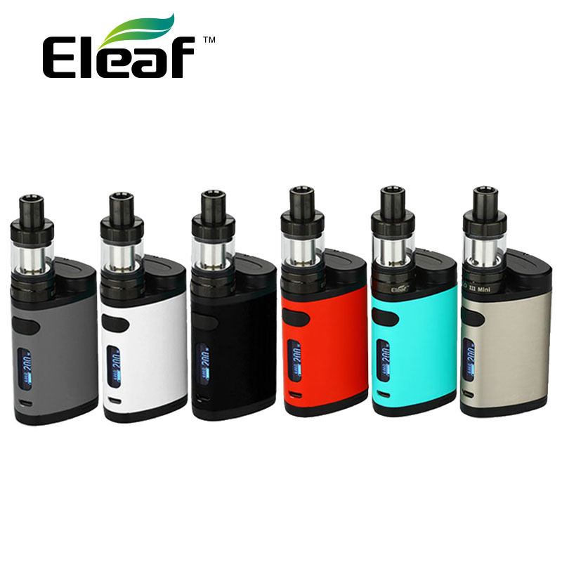 100% New Eleaf Pico Dual TC Vaping Kit 200W med Pico Dual Box Mod og Eleaf MELO 3 Mini Atomizer 2ml vs istick Pico Mod 75W