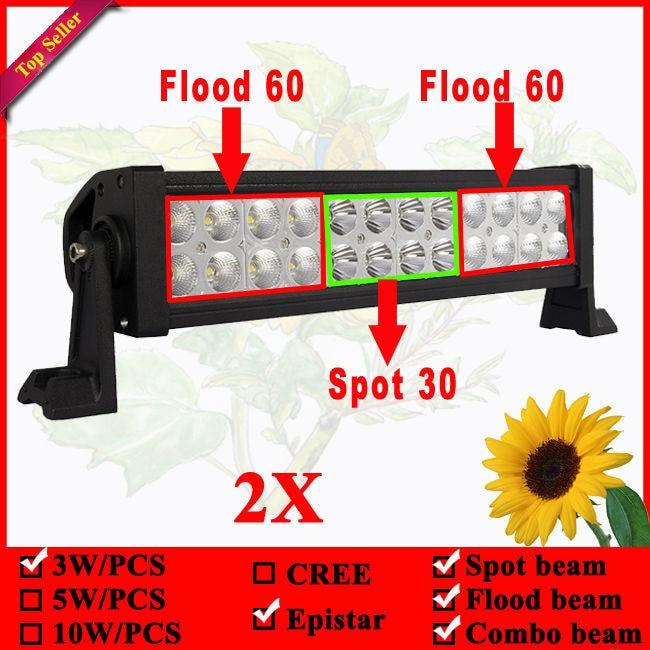 ФОТО Epistar led light bar 12v off road led light bars, led bar light 72W 13INCH LED DRIVING LIGHT BAR 2pcs/lots FREE shipping