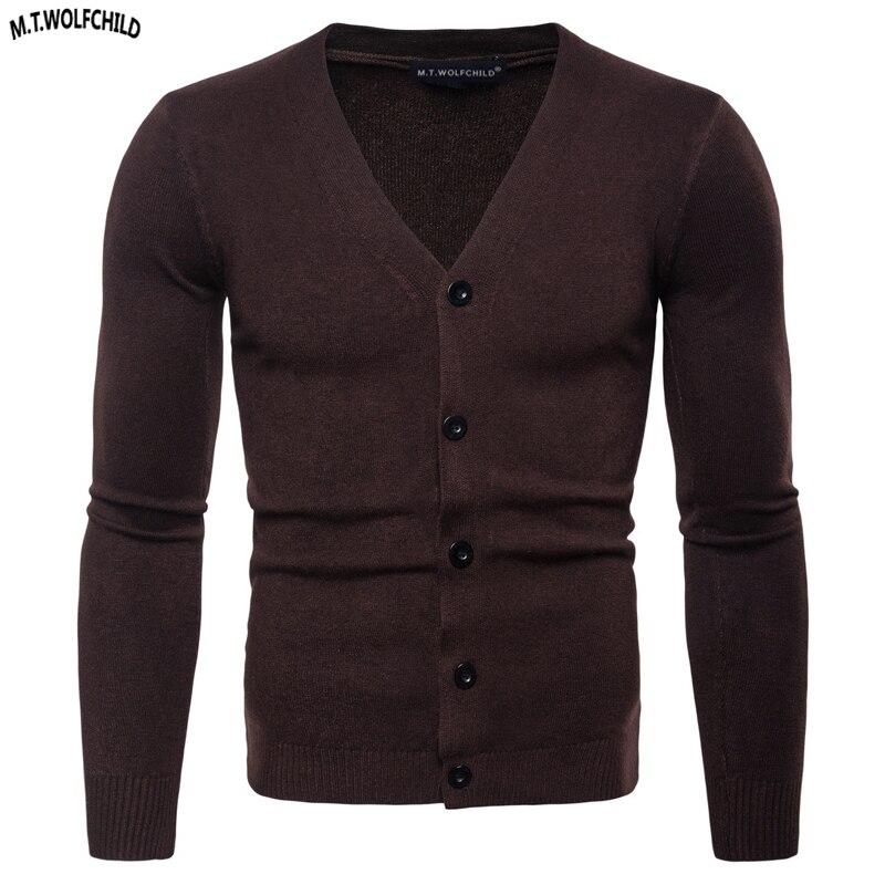2018 Neue Herren Langarm V-ausschnitt Strickjacke Gestrickte Pullover Lässig Herren Einfarbig Stricken Oberbekleidung Mode Herren Schlank Tops