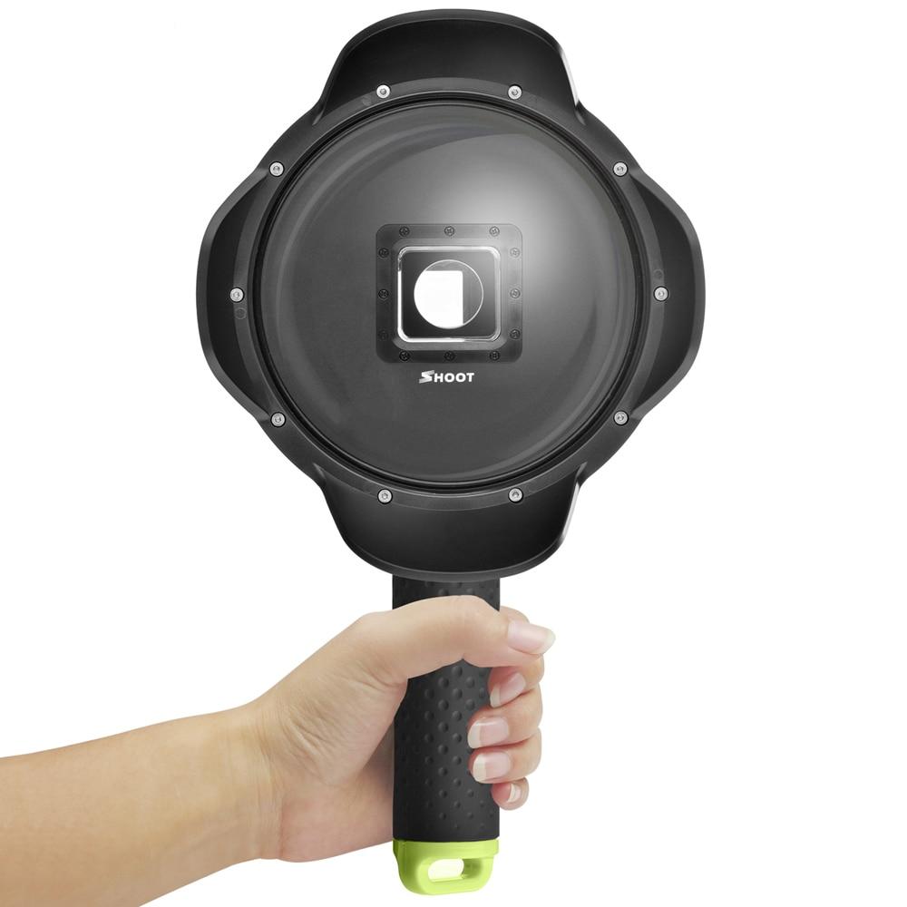 ФОТО Portable Diving Dome Port 6 inch Waterproof Xiaomi Yi 4K  Underwater Photography Dome for Yi Xiaoyi 2 Accessories