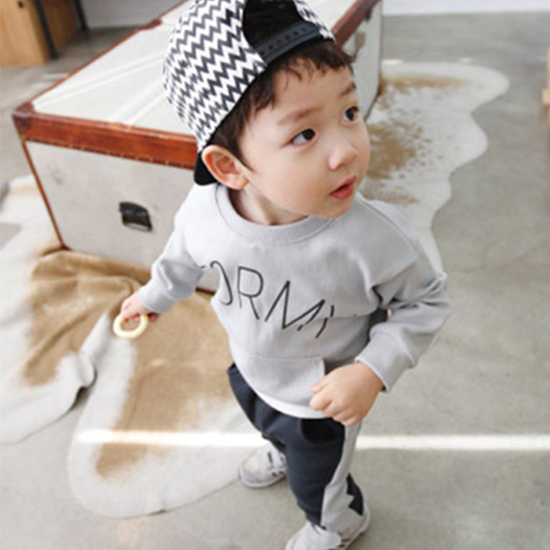 Baby Boy Clothes Spring Autumn Cotton Long Sleeve T-shirt + Casual Pants 2pc Suits Kids Girls Clothing Set Sport Tracksuit CC372 baby girls clothes autumn winter long sleeve t shirt pants 2pcs suit cotton newborn girl clothing set cotton baby tracksuit