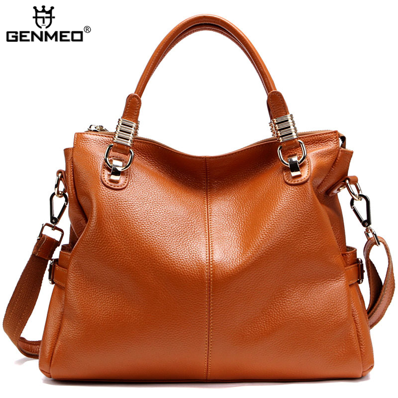 New Arrival Genuine Leather Handbag Ladies Cow Leather Shoulder Bags Women Real Leather Bags Female Multi Function Messenger Bag цена и фото