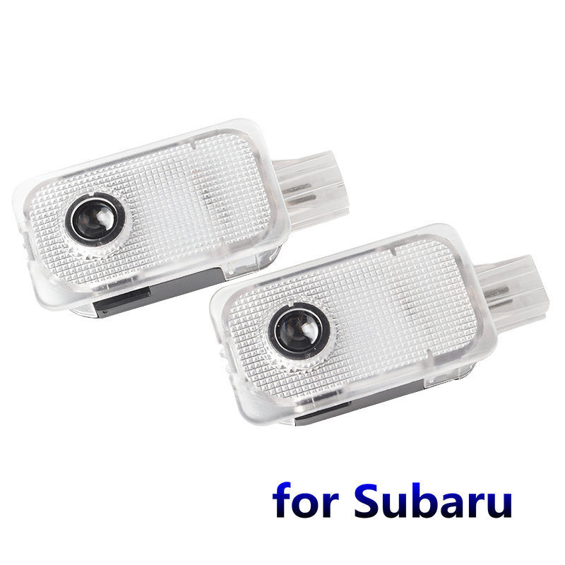 2PCS Car Led Door Welcome Light Shadow Projector Logo Door Light For Subaru FORESTER OUTBACK XV LEGACY IMPREZA Car Door Light