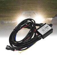 Многофункциональный днем Бег светодиодные Реле Жгут Управление DRL на Выкл диммер автомобиля Габаритные огни Управление;