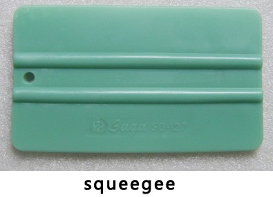 New 1Pcs Squeegee cutting plotter Film Vinyl Blue Plastic Scraper Squeegee With Soft Felt Edge Window