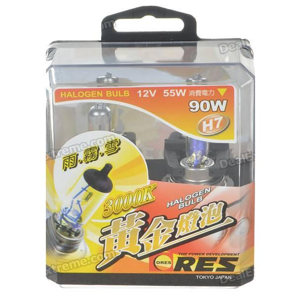 2Pcs H7 12V 55W 3000K Super Bright Car Yellow Light Bulbs (Pair/DC 12V) катушка lucky john anira spin 7 3000 fd