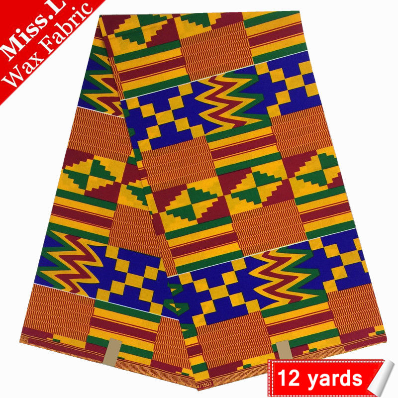Miss L Hot sale soft wax african prints wax fabric 100 cotton kente wax guarantee ankara