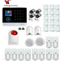 Yobang безопасности 3g wifi SMS сигнализация панель Пульт дистанционного управления стекло датчик сигнализации Дым/огонь сигнальный ПИР датчик бе