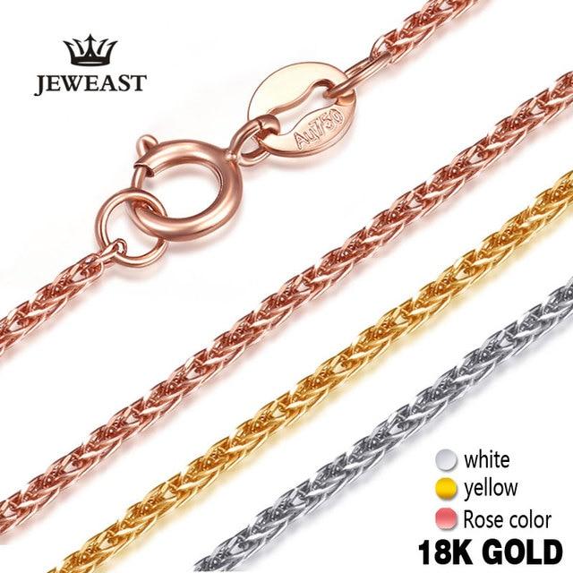 18 18k ゴールド女性ネックレスペンダント女性ダイヤモンドジュエリーロープチェーンパーティー流行のホット販売エレガントなファッションの女の子ギフトグッド