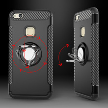 Magnetic Car Holder Shockproof Case For Huawei P10 Lite Plus