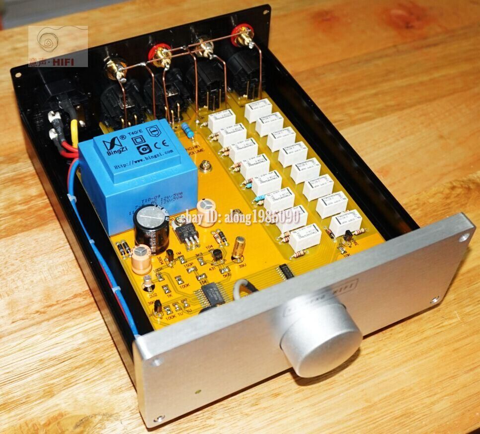 Finished Relay Volume Controller Balanced Potentiometer Balanced Preamplifier