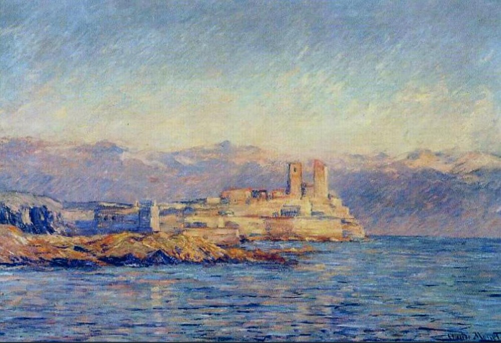 High quality Oil painting Canvas Reproductions The Castle in Antibes (1888) By Claude Mo ...