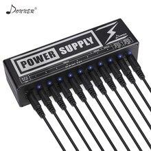 Donner DP 2 Gitar Efekt Pedallar Kurulu Güç Kaynağı 10 Izole Çıkış 9 V/12 V/18 V Gitar Aksesuarları Voltaj Koruması